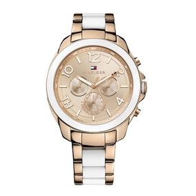Relógio Tommy Hilfiger Feminino Dourado Branco 12 Sem Juros