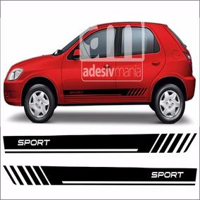 Adesivo Lateral Chevrolet Celta Sport Prisma Gm Faixa Clt-12