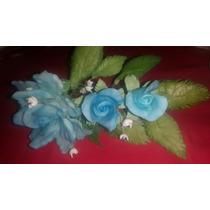 Rosas Porcelana Fría Flores Souvenir 15 Años Cumpleaños