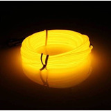 Cinta Flexible Tipo Neon Luz Fria 5 Mts Carro Color Amarillo
