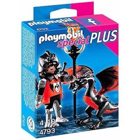 Retromex Playmobil 4793 Caballero Y Dragon Medieval Castillo