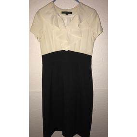 Vestido Anne Klein Suit Traje Blanco Y Negro Formal Elegante