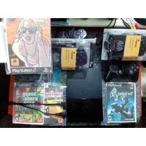 Playstation 2 Desbloqueado + Jogos + Controle + Leitor Novo