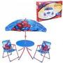 Set De Jardin Spiderman 2 Sillones Mesita Y Sombrilla
