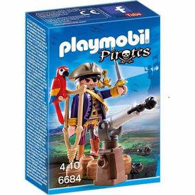 Playmobil Pirata E Papagaio Cód.6684