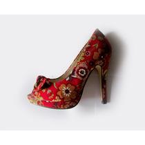 Zapatos Stilettos Estampadas Floreadas Lady Stork 35!