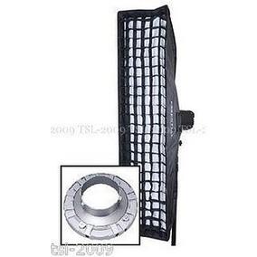 Softbox Strip Com Recuo E Grid 30cm X 1,40m Bowens