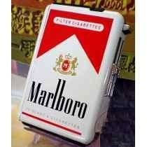 Cigarrera Metalica Con Encendedor Incluido Flama Soplete