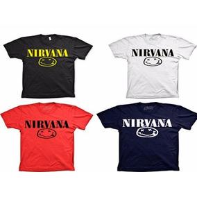 Blusa Personalizada Camiseta Rock And Roll Nirvana Camisa