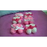 Souvenirs Mini Escarpines Crochet Nacimiento X 25 Pares