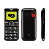Celular Simples Barato Tecla Grande Câmera Mp3 Mp4 Dl Yc 110