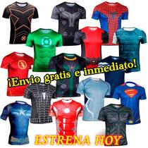Ropa Deportiva Playeras Superheroes Jersey Mejor Que Lycra