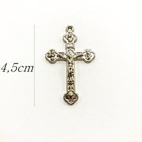 70 Crucifixos Pingentes Cruz Para Montagem De Terços Colares