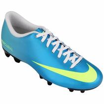 Promoção Chuteira Campo Nike Mercurial Vortex - Azul
