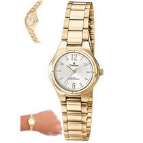 Relógio Champion Feminino Dourado Socia Pequeno Wr Ch25123h