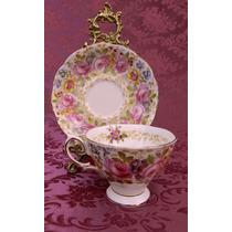 Dúo Para Té En Porcelana Inglesa Royal Albert * Exquisito *