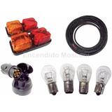 Kit Instalación Eléctrica Trailer Faros + Acople + Cable 5x1