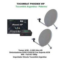 Tv Satelital Tocomsat Phoenix Vip Hd Acm + 2 Ant 60 + 2 Lnb
