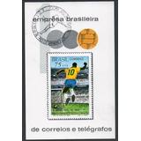 1969 - B-28 Bloco Milésimo Gol Pelé Carimbo Copa Mundo 74
