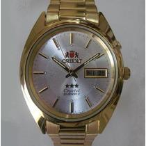 Relógio Orient Automático Masculino Folhado À Ouro, Original