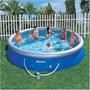 Piscina Bestway Fast Set 10.179l Azul + Filtro 110v