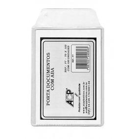 50 Envelope Plastico Protetor P/ Identidade Rg 75x105 Acp