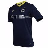 Camisa Infantil Nike Santos Peixe Original 2013/2014 Azul