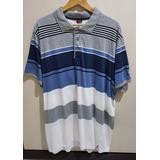 Camiseta Gajang Gola Polo Azul/cinza/branco - G G 4