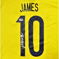 Jersey Firmado James Rodriguez Seleccion Colombia Adidas