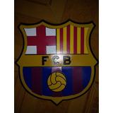 Escudo En Madera 3d Barcelona Fc $55000 No Incluye Envio