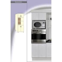 Mueble Porta Horno Y Micro Laqueado Blanco Amoblamientos Fl