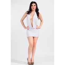 Vestido-mini- Escote Marylin Sexy!! Blanco
