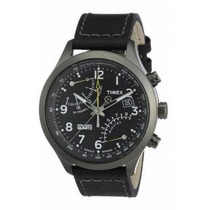 Relógio Timex Cronógrafo Puls. De Couro Preto T2m699wkl/tn