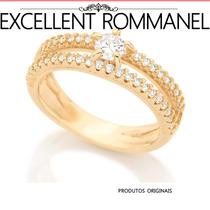 Anel Rommanel Solitario 45 Zirconias 511499