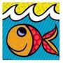 Gravura Poster Oficial Romero Britto - Boom Fish Grande