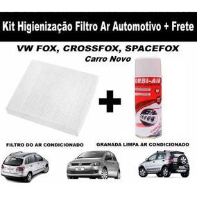 Kit Filtro + Spray Ar Condicionado Vw Crossfox Fox Spacefox