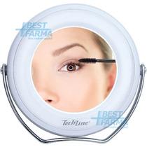 Espelho 5x De Mesa / Portátil Maquiagem Com Luz De Led Duplo