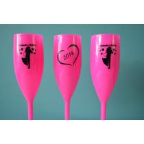 40 Taça Champanhe Champagne Acrílica Personalizadas