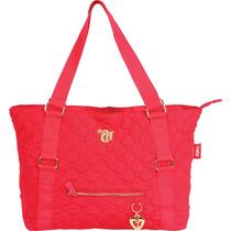 Bolsa Shopping Bag/tote Capricho Love Vii Red C/ziper Unid