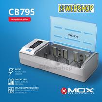 Carregador Pilha Visor Lcd Universal Aa Aaa C D 9v Mox Cb795