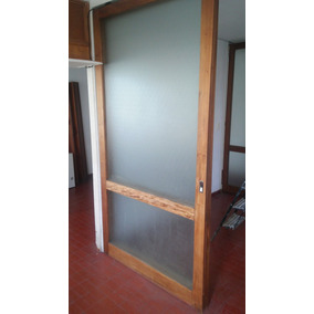 puertas corredizas madera y vidrio esmerilado unidades