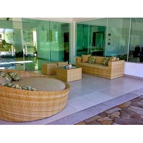 Kit Sofa Essencial, Mesa De Centro, 2 Puffs, Sofá 3 Lugares