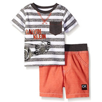 Conjunto 2 Piezas Bebé Niño Calvin Klein Baby Short Playera