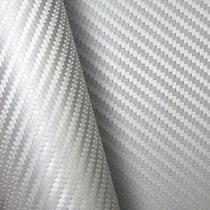 Adesivo Envelopamento Fibra Carbono Prata 3x1,22