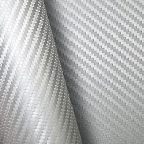 Adesivo Envelopamento Fibra Carbono Prata 1x1,22