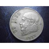 Mexico Un Peso Morelos Con Error De Troquelacion Fecha 1977