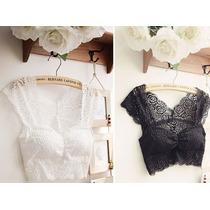Blusa Crop Top Encaje Moda Japonesa Importada