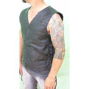 Colete/casaco /jaqueta Masculina Em Retalhos Couro Ref 2m