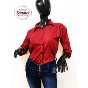 Camisa Dama Entallada Lisa Variedad De Colores Once