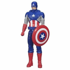 Boneco Capitão América 12p Titan B6153 + Brinde!